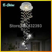 modern klar Waterford spirale Sphäre führte Glanz kronleuchter aus kristall deckenleuchte wohnkultur suspension pendelleuchte leuchte licht(China (Mainland))