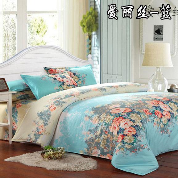 29 kinds 4pcs Cheap printing bedding set, bed linen, bed set sheet / duvet cover / Pillowcase, king size full size 3pcs(China (Mainland))