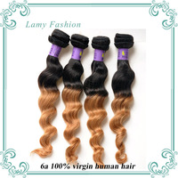 6A Ombre Peruvian Virgin Hair Loose Wave 100% Human Hair Product Ombre Human Hair Extensions Unprocessed Human Hair Weaves 1B/27