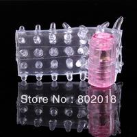 100pcs/lot XQ-018 free shipping wholesale vibrating penis sleeve,finger cock ring vibrator