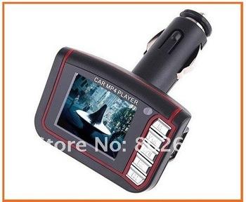 "20pcs/lot Hot 1.8"" LCD Wireless Car MP4 MP3 music Player FM Transmitter SD MMC USB Freeshipping"