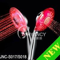 Free shipping 7 color LED hand shower head light-LED handheld shower JNC-S017