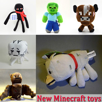New 2014 Minecraft Toys Wolf Specter Creeper Zombies Steve Minecraft  Plush Dolls Kids Brinquedos Christmas Gifts Toys