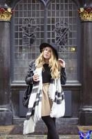 2014 New Arrival Winter Warm Scarves Imitation Cashmere Black & White Plaid Scarf Shawl Bufandas For Women 200 * 92cm