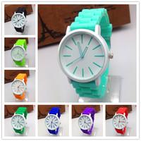 New fashion Classic Geneva Silicone quartz Watch Jelly women Rhinestone dress watches Reloj Wristwatches Relogio woman