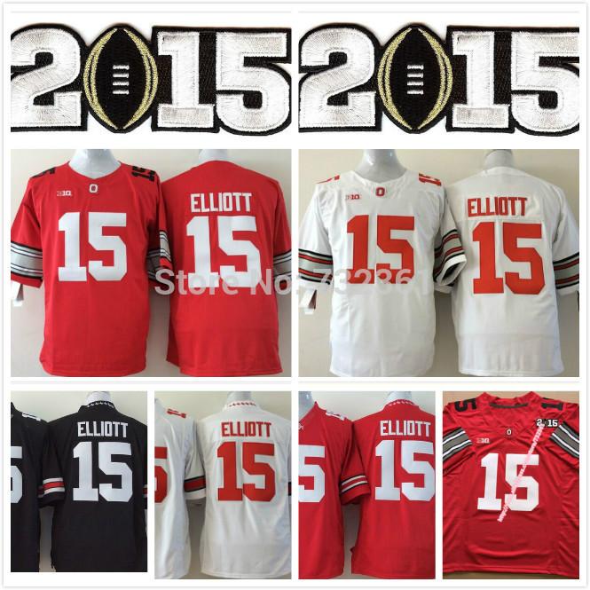 Free Shipping #15 Ezekiel Elliott Jersey Ohio State Buckeyes College Football Jerseys,2014 New Limited Cheap Jersey, Embroidery(China (Mainland))