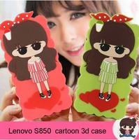 High qulity silicon cartoon 3d S850 lenovo case Despicable Me soft silicon case for lenovo s850 s850T mobile phone case