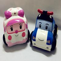 2 PCS  Robocar Poli  Robot Car Plush Toys South Korea Thomas Stuffed Animals Plush toys for baby toy