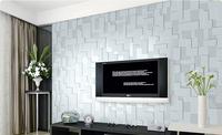 2015 new style non-woven embossed 3D stereoscopic bedroom living room TV backdrop wallpaper