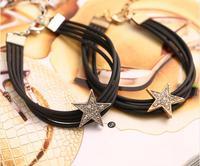 OMH wholesale black jewelry DIY cortex stars women's bracelet SZ02