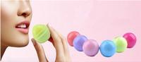 6 color New Fashion  Round Ball Natural Organic Embellish Lip Balm,Chapstick, Lip Care