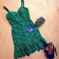 Vestido De Festa 2015 New Women Clothes Crochet Lace Dress Vestidos Emerald Sexy Straps Club Dress Hot Sale Plus Size