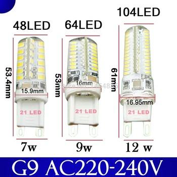 2015 кри горячая распродажа из светодиодов лампа G9 кукуруза лампы переменного тока 220 В 7 Вт 9 Вт 12WSMD 2835 3014 из светодиодов свет угол 360 градусов луч прожектор лампы лампы