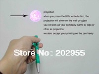 100% Free Shipping Freight and Logo Print , Wholesale Projection Pen,Promotional Gift Pen, fast delivery by DHL or FEDEX