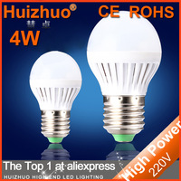 Big Discount [Huizhuo Lighting]Free Shipping 10pcs/lot High Power 4W 5w 7w 220V SMD2835 LED Lamps White Plastic  LED Bulb Light