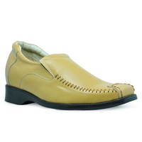 1241C - Genuine Leather casual comfortable height loafer shoes handmade good quality