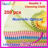 200 pcs F130g  professional glasses eyeglass cleaning cloth  sunglass eyewear cloth 135mm x 135mm free shipping
