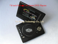 100% Cheapest 7.8 inch Portable Home DVD Player with FM Radio Analog Games TV MP3 MP4 +  Freeshipping Chinapost  & 1 .5 Years