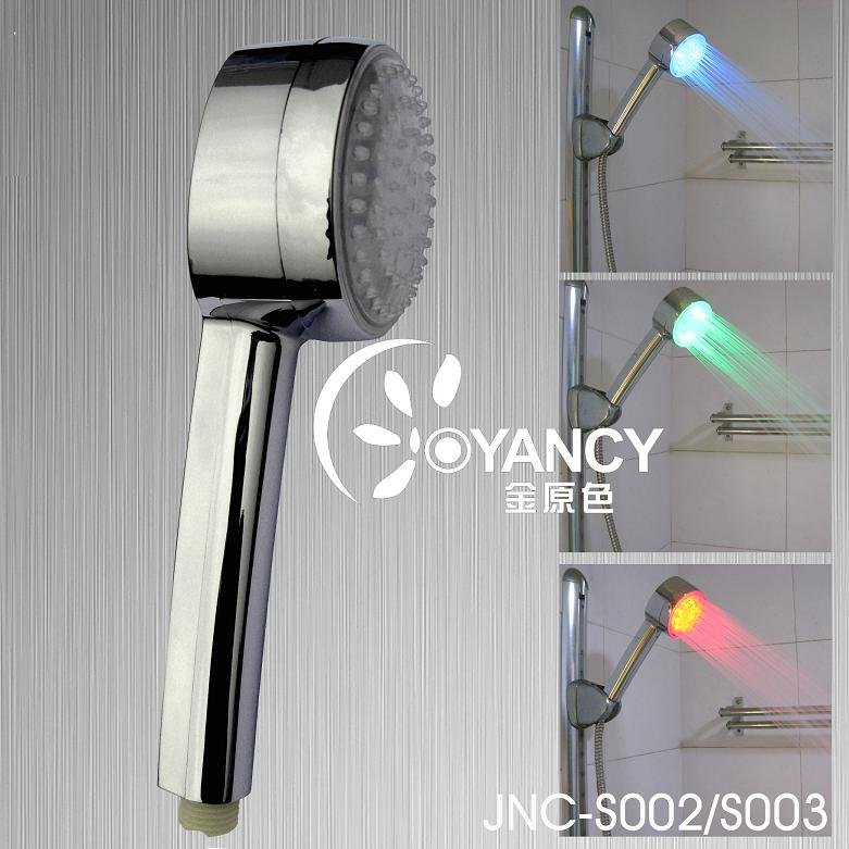 JNC-S002 ABS Plastic LED Shower Head With CE & ROHS Hand Shower(China (Mainland))