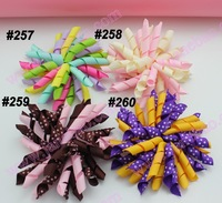 free shipping 45pcs 3.5''  korker hair clips (SEW ONES) to mix color korker hair bow New girl hair clips