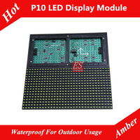 Evershine Amber / Yellow Color Dip WATERPROOF  P10 LED Module Size 320mm x 160mm Factory in Shenzhen