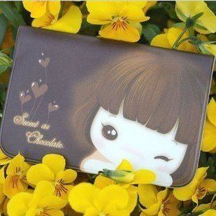 Freeshipping!! New Fashion Lovely Girl credit card holder / busniess bus business card case/bag/wholesale
