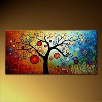 Holiday Sale 100% hand painted huge modern oil painting abstract wall art canvas decoration home gifts