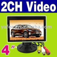 "100% Warranty Free Shipping New 4 ""TFT LCD Color Camera Rearview Mirror Car Monitor O-486"