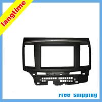 Free shipping--Car refitting DVD frame,DVD panel,Dash Kit,Fascia,Radio Frame,Audio frame for Mitsubishi Fortis and Lancer,2DIN