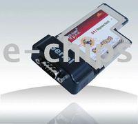HT-T232 OX 5L Serial Port ExpressCard/54 Adapter 1 External DB9 port PCI-express