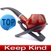 Fashion Wooden pipe Tobacco Smoking Pipe - send leather and pipe rack