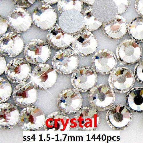 400gross/40bags/lot Free shipping crystal rhinestones flat back non hotfix SS4 - 1.6-1.7mm(Hong Kong)