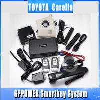 free shipping,easy install smart key RFID car alarm system for Toyota Corolla, keyless entry, remote engine start kits for car.