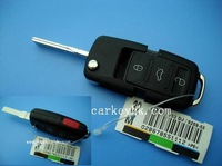 20pcs  VW 3+panic 3+1 4 button folding remote flip key shell blank cover case fob