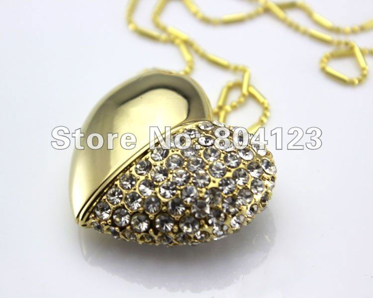 Wholesale/ Free Shipping,Jewelry Heart Shape USB Pen Drive,Crystal Heart USB Memory Disk,Swarovski Crystal USB Disk 8G/16G/32G(China (Mainland))