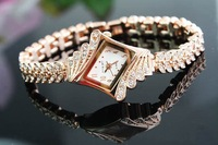 Low price fashion rhinestone diamond Waterproof luxury watches for lwoman free shipping