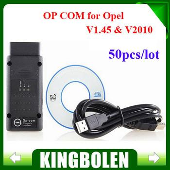 (50PCS/LOT) 2014 Free Shipping opcom OP COM V2010 auto diagostic tool for Opel op-com V1.45 In stock