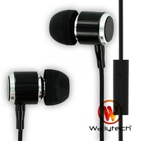 Wallytech Colorful Earphones For iPhone 5/4/3G/3GS/Blackberry/Galaxy Tab Earphones With Mic & Button Free Shipping (WHF-085)