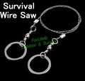 Freeshipping 2pcs/lot Survival Steel Wire Saw Scroll outdoor (67cm full length) psk personl survival stuff LS1206