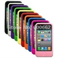 Ten colors/package - Silicone Cases / Skins / Covers for Apple iPhone 4 / 4G / 4S with Free Drop Shipping