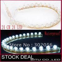 100pcs/lot 24cm 24 LED TT3 waterproof flexible led strip TL004
