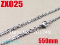 Wholesale - 550mm 21.5Inch - 3mm Elliptic ring 316L stainless steel chain Jewelry Men's male women's necklace chains 20pcs ZX025
