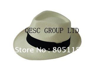 Genuine panama hat/straw hat/fedora,sole supplier from China.leather headband with gold printing,58cm,60cm