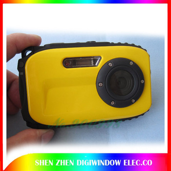 2.7inch LCD Screen B168 waterproof digital camera 10m underwater 12 mega 8x zoom Camera