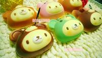 Free Shipping/New Cute cartoon rabbit hat Bear squishy charm / mobile phone Strap pendant / Wholesale
