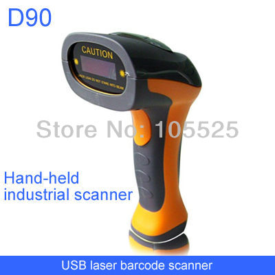 usb hand-held industrial laser barcode scanner 4mil scan precision oil-proof(China (Mainland))