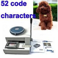 Dog Tag Embossing Machine 52Code Chatacters ,Steel Embossing Machines,Manual Card Embossers