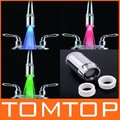 Three-color Water Stream Temperature Controlled LED Faucet Tap,Basin LED faucet light, H4712,5pcs/lot, freeshipping,dropshipping(China (Mainland))