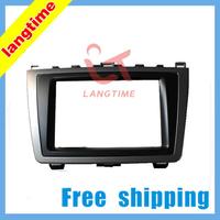 Free shipping-Car refitting DVD frame,DVD panel,Dash Kit,Fascia,Radio Frame,Audio frame for 2009-2013 Mazda 6 ,2DIN