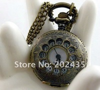 Freeshipping wholesale 20pcs/lot could mix different styles necklace small pocket watches Dia27mm S418